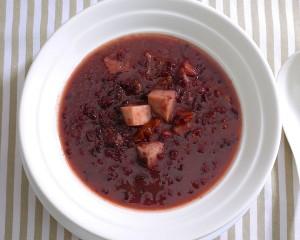 香芋椰汁桂圓黑米露 (全素)