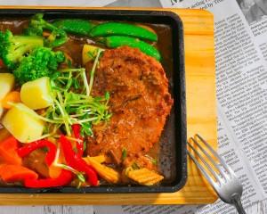 日式黑胡椒植物牛排(蛋素)