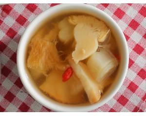 猴菇苦瓜湯 (蛋素)